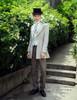 Model View blouse TP00148, pants SP00178, hat P00619, jabot P00516N