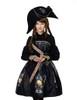 Last Chance Steampunk Pirate One Strap Dress Printed Dress A Line Midi Skirt Set Black White