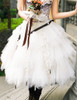 Steampunk Wedding Tulle Skirt Midi Skirt Handmade Bustle Belt Set