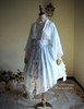 Front View (Bluish Snow Refined Grove Prints ) gown: CT00261