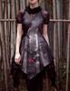 Last Chance: Vintage Midi Dress Floral Summer Dress Bustle Skirt Piece Handmade Chain Set