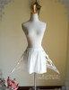 Front View w/o tulle sash or detached steel bones (White + Cream Ver.)