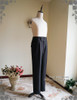 Vintage Mens Pants High Waisted Pants Black