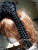 Vintage Handmade Milliner Pirate Hat Tricorn Hat Headdress Black Hat
