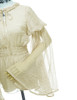 Vintage Top Transparent Long Sleeve Shirt Elastic Waist* Ivory Grey