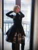 Steampunk A Line Skirt Printed Skirts Midi Skirt Pleated Black Skirt