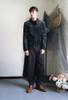 Vintage Velvet Jackets for Men Military Unisex Coats & Skirt Piece*Burgundy Dark Green