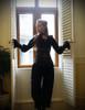 Last Chance: Gothic Vintage Velvet Pleat Ankle Pants*black/champagne