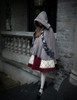 Model Show  (Off-White + Burgundy Version) blouse TP00161 tulle petticoat: UN00026 birdcage petticoat: UN00027 cape CT00282