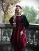Model Show (Burgundy Ver.) (beret: P00632, blouse: TP00157, skirt: SP00184, petticoat: CT00040S)