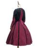 Back View (Burgundy Ver.) (birdcage petticoat: UN00028)