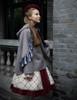 Model Show (Burgundy Ver.) (mantle: CT00282, dress: DR00209, blouse: TP00161, tulle petticoat: UN00026, birdcage petticoat: UN00027)
