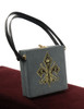 Gothic Retro Vintage Box Tote Embroidery Velvet Case Bag