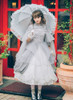 Model Show (Grey+ White Ver.) Headdress P00626, Dress DR00238