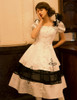 Model Show (White + Black Bows & Prints Ver.) (brooch: P00627, petticoat: UN00019)