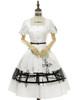 Front View (White + Black Bows & Prints Ver.) (birdcage petticoat: UN00019)