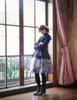 Model Show (Purple + Dark Blue Ver.) (headdress: P00626, blouse: TP00145, petticoat: UN00026, UN00027)