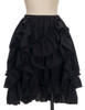 Front View when Skirt Layer front buttoned-up (Black Version)