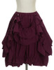 Front View when Skirt Layer front buttoned-up (Burgundy Version)