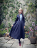 Gothic Retro Maxi Trench Coat Vintage Fashion Dandy Long Spring Jacket