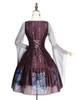 Back View (Burgundy + Light Grey Ver.) (petticoat: UN00026)