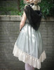 Vintage Gothic Fashion Midi Dress Womens Ethereal Summer Dress