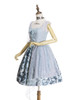 Side View (Pale Blue + Light Grey Chiffon & Beaded Tulle Ver.)