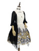 Last Chance: Vintage Retro Fashion Printed Midi Dress Ancient Greek Ethereal Summer Dress Black Ivory