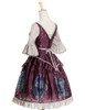 Side View w/o Cape (Burgundy + Warm Grey Ver.) (petticoat: UN00026)