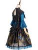 Side View (Black + Peacock Blue Ver.) (petticoat: UN00026)