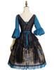 Back View w/o Cape (Black + Peacock Blue Ver.) (petticoat: UN00026)