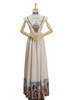 Front View of Empire Waist Dress (Champagne + Light Ivory Version)