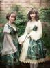 Model Show (Dark Green + Gold Ver.) (dress set on right: DR00243, grey blouse: TP00158, petticoat: UN00026)