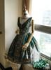 Side View w/o cape or necklace under natural sunlight (Dark Green + Gold Ver.) (petticoat: UN00019)