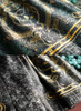 Detail View under natural sunlight top: Dark Green + Gold Version bottom: Black + Gold Version