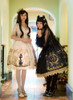 Model Show (Black + Gold Ver.) (dress on left: DR00239, petticoat: UN00026, white leggings: P00187)