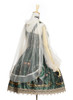 Side View (Dark Green + Gold + Light Ivory Ver.) (petticoat: UN00019)