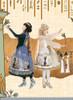 Sale: Vintage Lolita Retro Summer Midi Dress Ancient Egypt Goddess Bastet Dress Hood Top