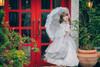 Model Show (Light Grey Ver.) (headdress: P00626, dress set underneath: DR00222, petticoat: CT00040S, UN00028, gloves: P00592)