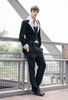 Gothic Retro Fashion Mens Black Riding Jacket Spring Autumn Dress Coat