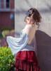 Model Show (Misty Blue + Ivory Ver.) (headdress: P00622, skirt: SP00197)