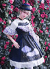 Model Show (Dark Blue + Black Ver.): (dress: DR00252, brooch: P00651, petticoat: UN00019)