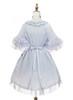 Back View (Pale Blue Rain + Grey Mixed Underdress Ver.) (petticoat: UN00019)