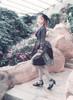 Model Show (Black + Grey Ver.) (hat: P00625, jacket: CT00268, petticoat: UN00026, pillow bustle: P00002)