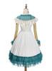 Back View (White + Emerald Green Ver.) (petticoat: UN00026)