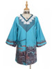Sleeping Fox, Chic New Chinese Style Wash Painting Oversize Jacket Blue Casual Spring Autumn Coat*Instant Shipping