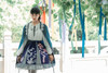 Model Show (Dark Blue + Pale Mint Ver.) (headdress: P00655, jacket: CT00312, blouse: TP00179, petticoat: UN00026)