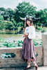 Model Show (Lilac Mixed + Black Ver.) (headdress: P00656, blouse: TP00179)