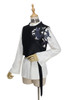 Sleeping Fox, 啻九 ChiJiu Chic New Chinese Style Dandy Cool Fashion Unisex Long Sleeves White Shirt, Black Vest, Wrist Piece and Waist Belt 4pcs Set*Instant Shipping