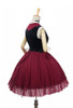Back Side View (Burgundy + Black Ver.) (petticoat: UN00026)